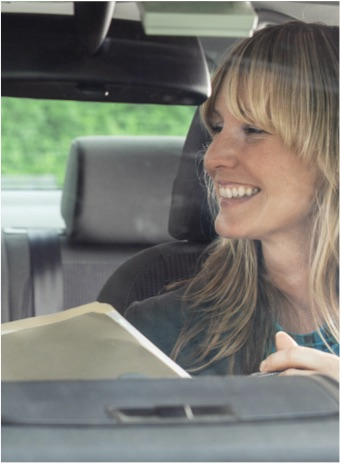 Driving Instructor with female OT learner